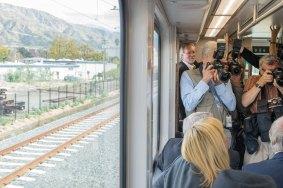 Media taking pics en route to Azusa.