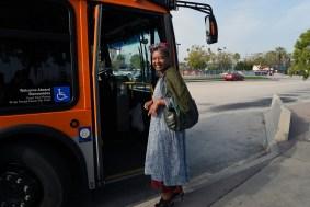 A happy passenger.