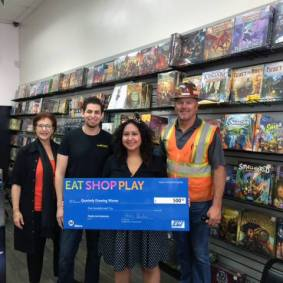 Metro (left), Next Gen Games & Winner - Melissa Lucas (center), VCI (right)