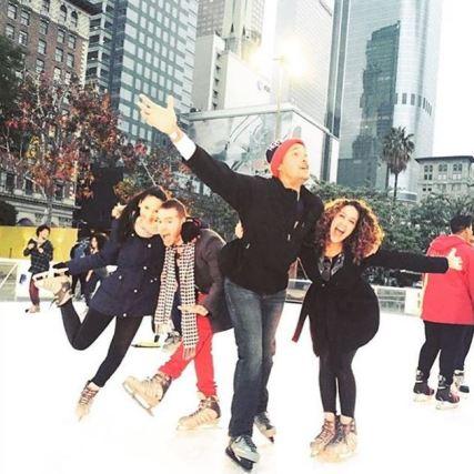 Photos: Holiday Ice Rink DTLA Instagram.