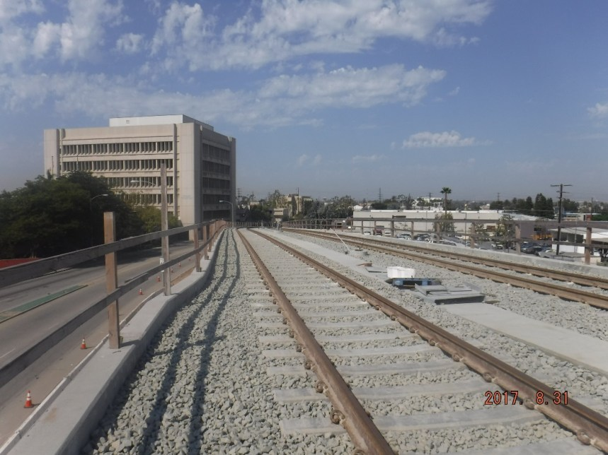 Inglewood: looking west from future La Brea Station.