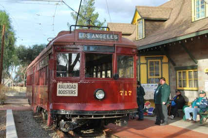 "Pacific Electric ""Red Car"" trolley at the museum."