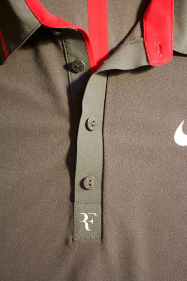 Roger Federer Game-used Custom Nike Tennis Shirt. 2011
