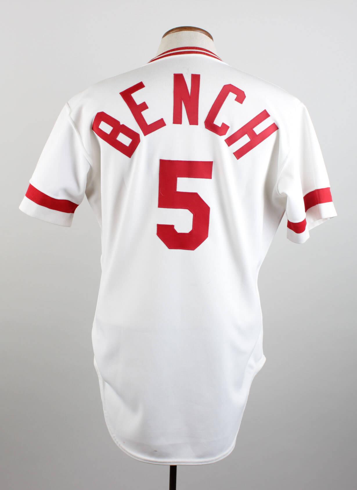 1983 Cincinnati Reds Johnny Bench Game Worn Signed