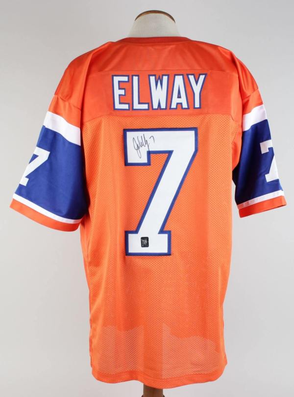 Broncos John Elway Signed Jersey Player Holo