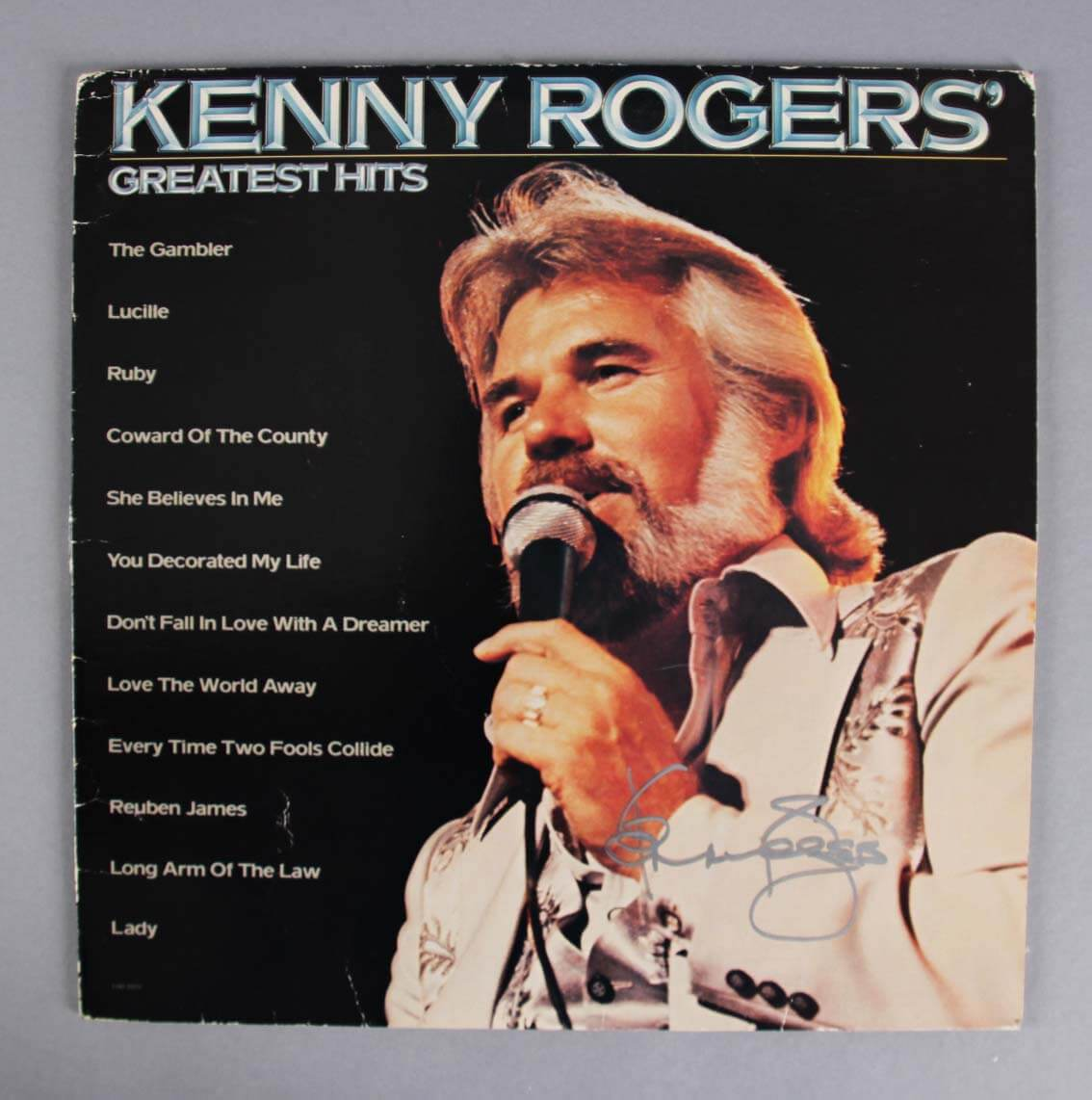 Kenny Rogers Signed Greatest Hits Record Album Jsa