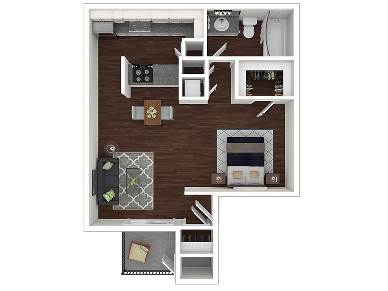 Floor Plans for Candlestick Lane Apartments in Salt Lake City