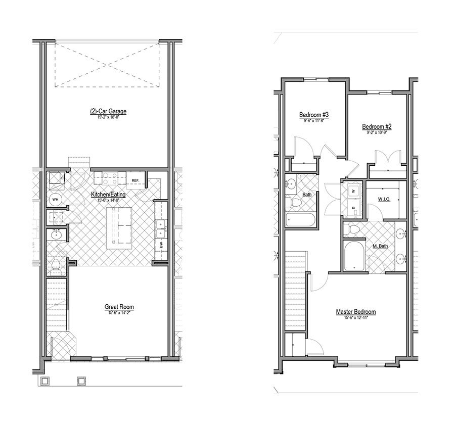 Floor Plans for Greyhawk Townhomes Apartments in Layton