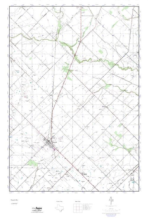 MyTopo Needville, Texas USGS Quad Topo Map