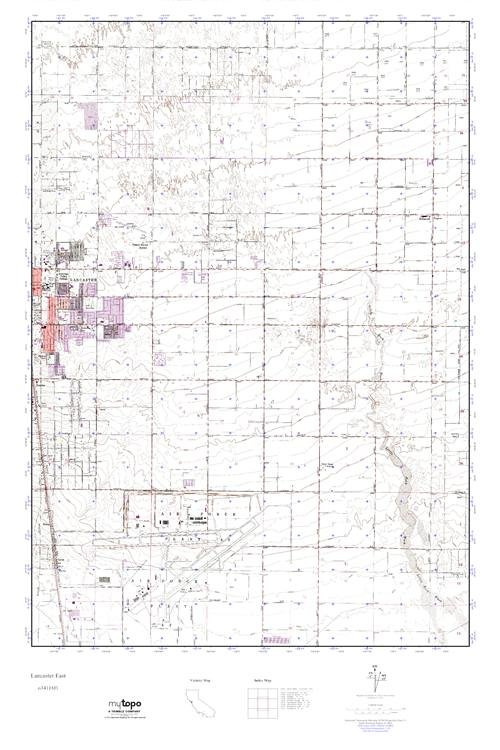 MyTopo Lancaster East, California USGS Quad Topo Map