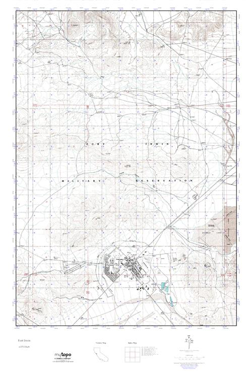 MyTopo Fort Irwin, California USGS Quad Topo Map