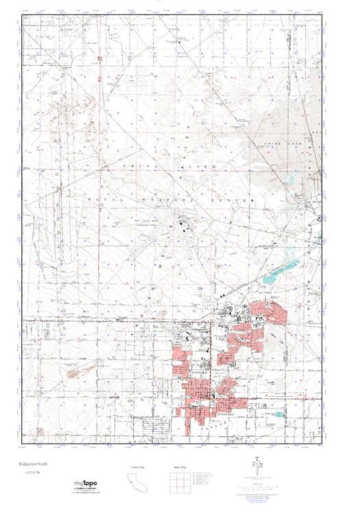 MyTopo Ridgecrest North, California USGS Quad Topo Map