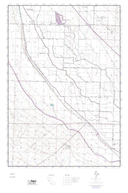 MyTopo Lokern, California USGS Quad Topo Map