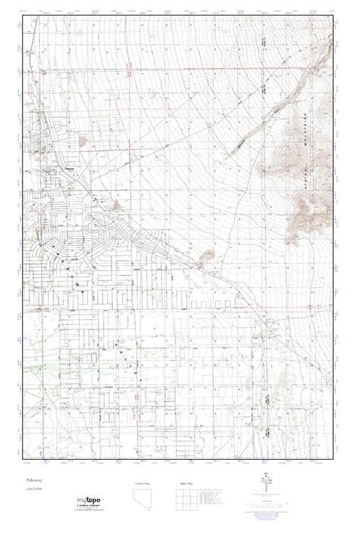 MyTopo Pahrump, Nevada USGS Quad Topo Map