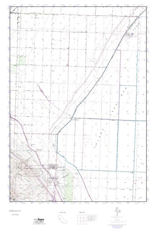 MyTopo Kettleman City, California USGS Quad Topo Map