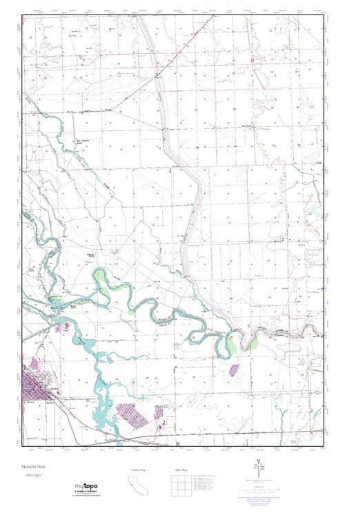MyTopo Mendota Dam, California USGS Quad Topo Map