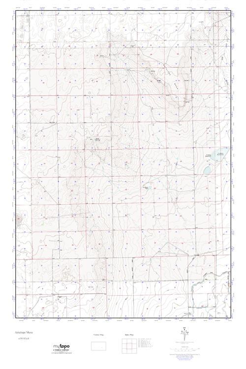MyTopo Antelope Mesa, Colorado USGS Quad Topo Map