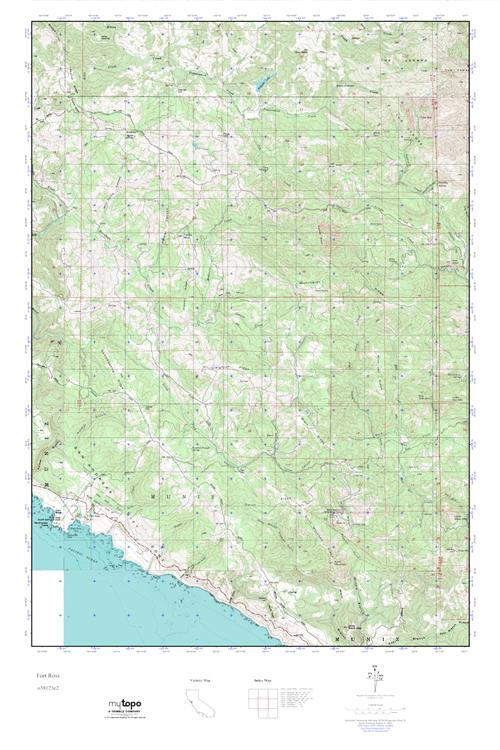 MyTopo Fort Ross California USGS Quad Topo Map