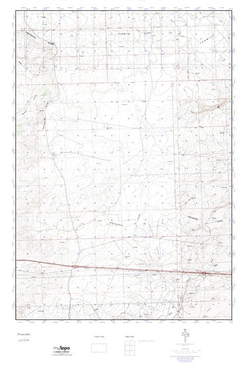 MyTopo Wamsutter, Wyoming USGS Quad Topo Map
