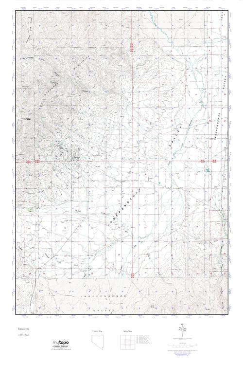 MyTopo Tuscarora, Nevada USGS Quad Topo Map