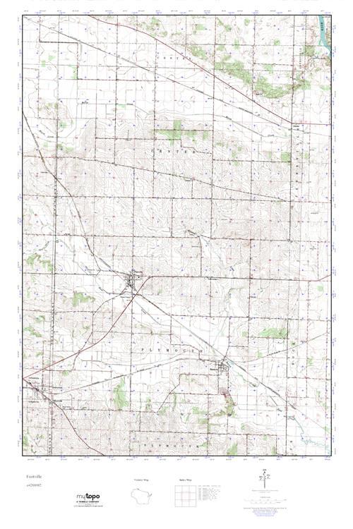 MyTopo Footville, Wisconsin USGS Quad Topo Map