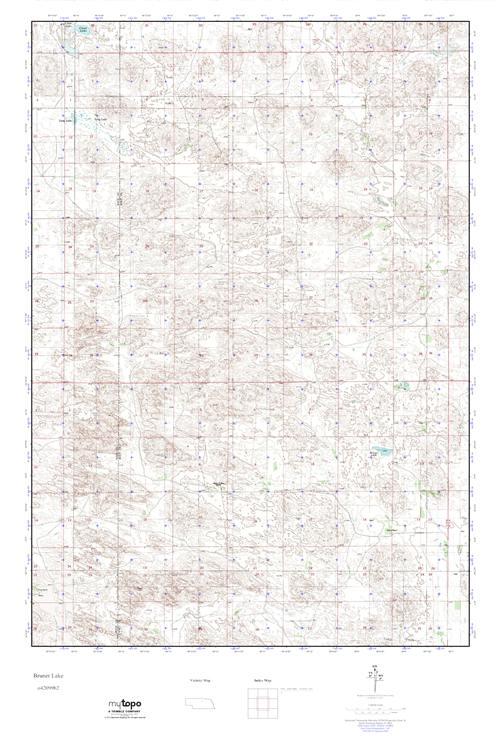 MyTopo Bruner Lake, Nebraska USGS Quad Topo Map