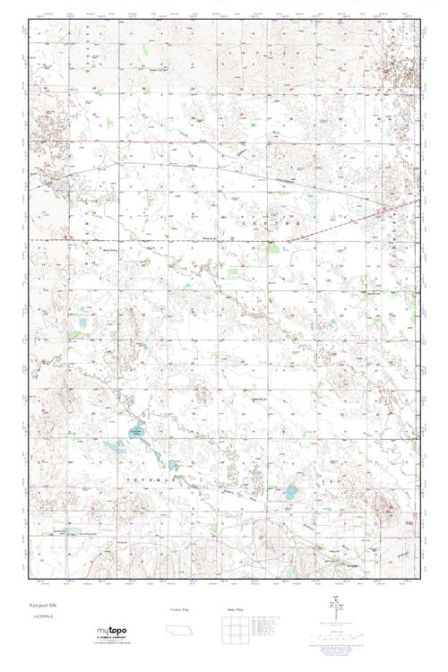 MyTopo Newport SW, Nebraska USGS Quad Topo Map