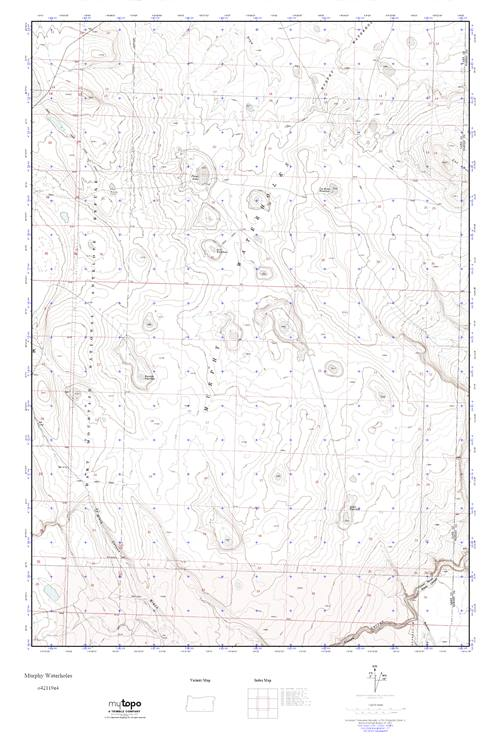 MyTopo Murphy Waterholes, Oregon USGS Quad Topo Map