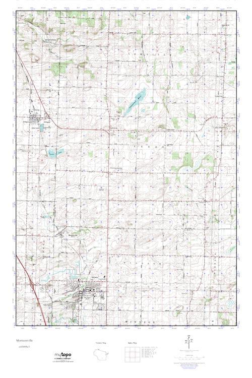 MyTopo Morrisonville, Wisconsin USGS Quad Topo Map