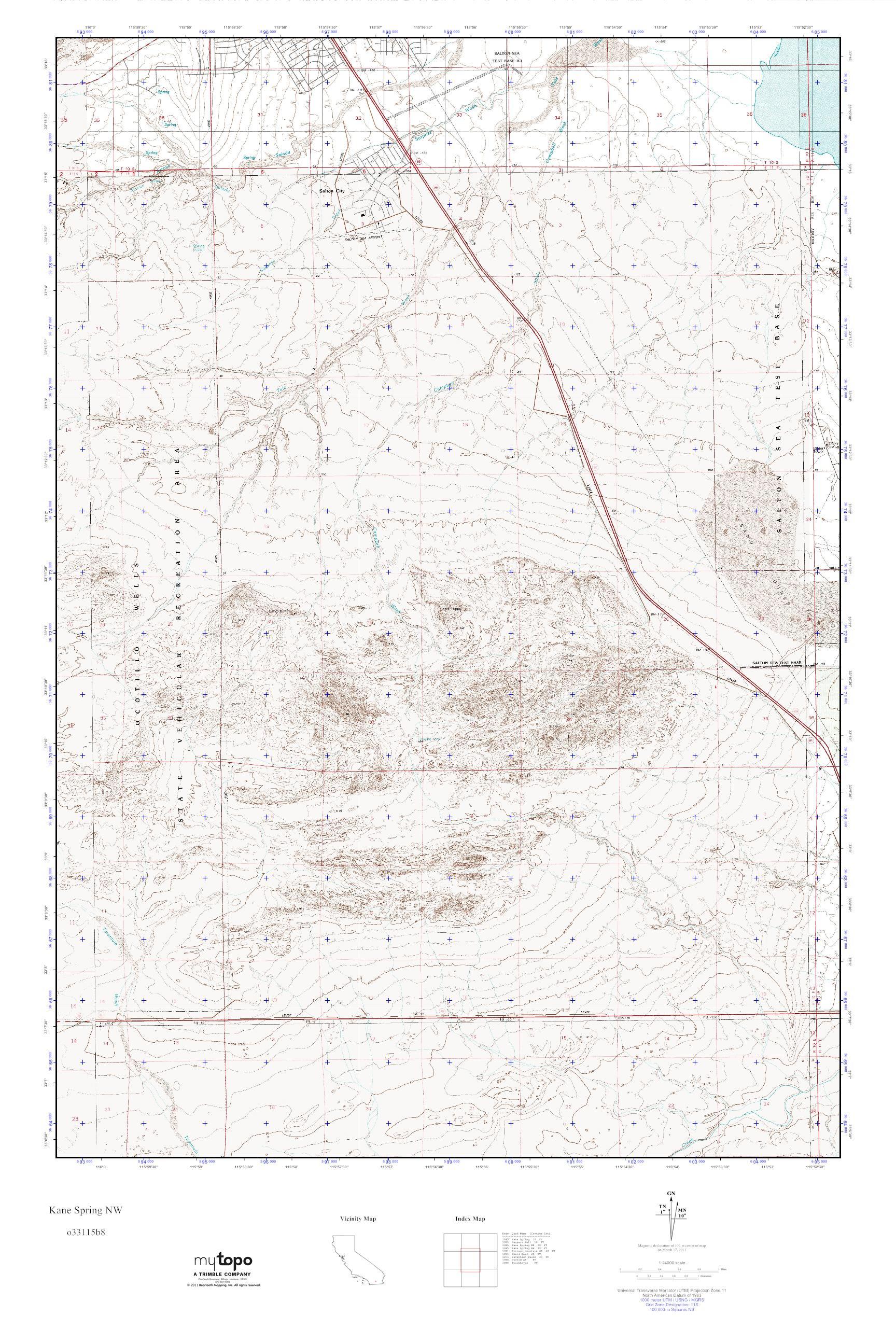 MyTopo Kane Spring NW, California USGS Quad Topo Map