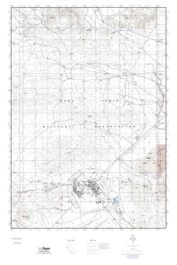 Fort Irwin Map compressportnederland