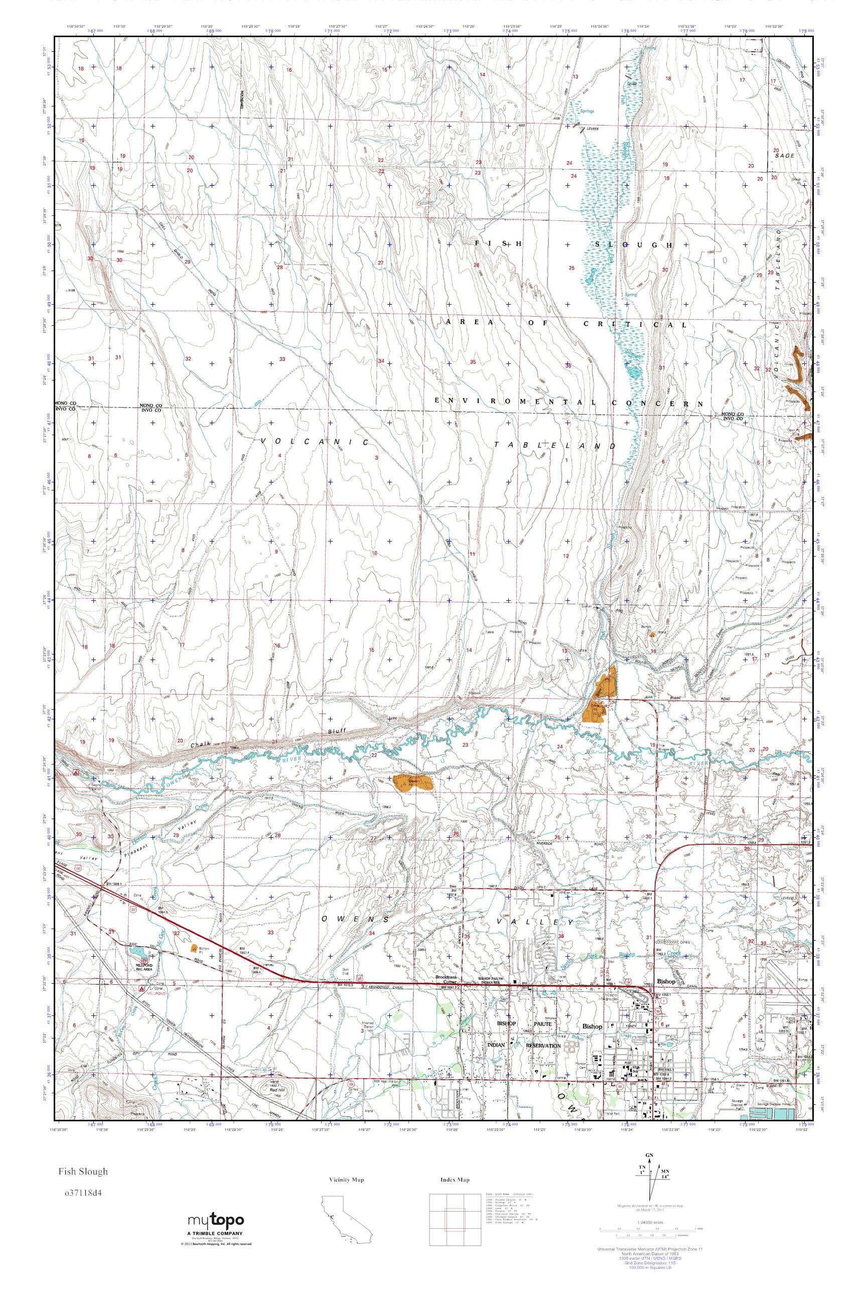 MyTopo Fish Slough, California USGS Quad Topo Map