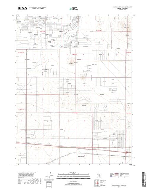 MyTopo California City South, California USGS Quad Topo Map