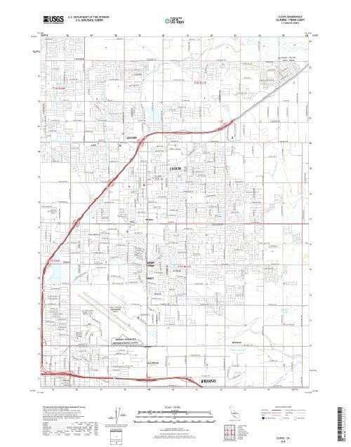 MyTopo Clovis, California USGS Quad Topo Map