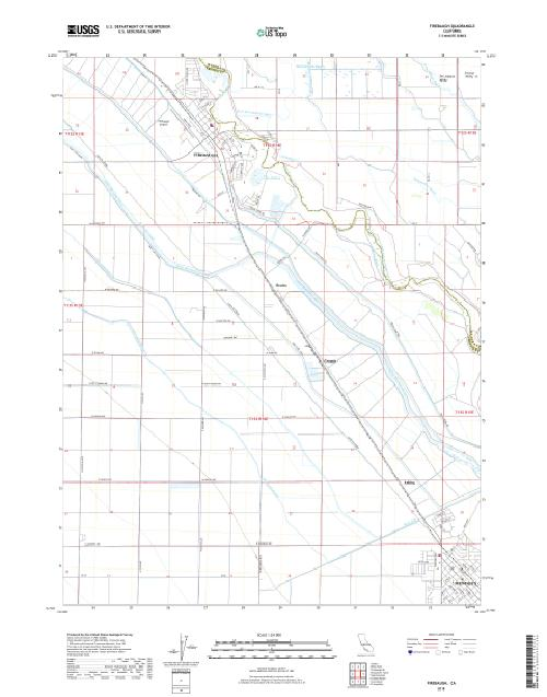 MyTopo Firebaugh, California USGS Quad Topo Map
