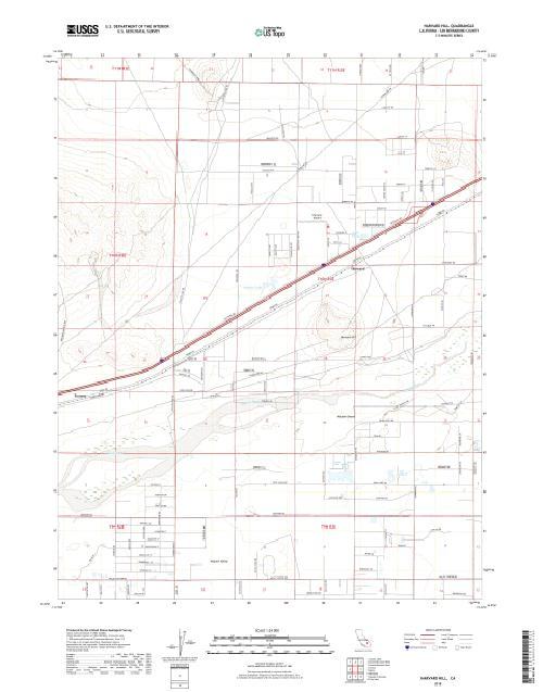MyTopo Harvard Hill, California USGS Quad Topo Map