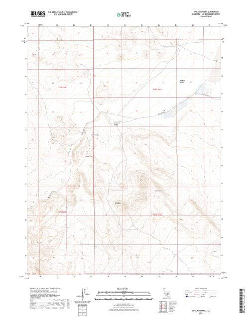 MyTopo Opal Mountain, California USGS Quad Topo Map