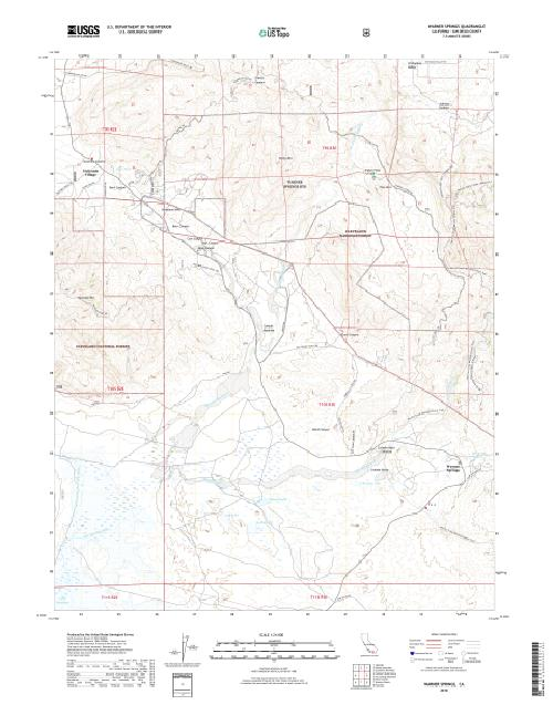MyTopo Warner Springs, California USGS Quad Topo Map
