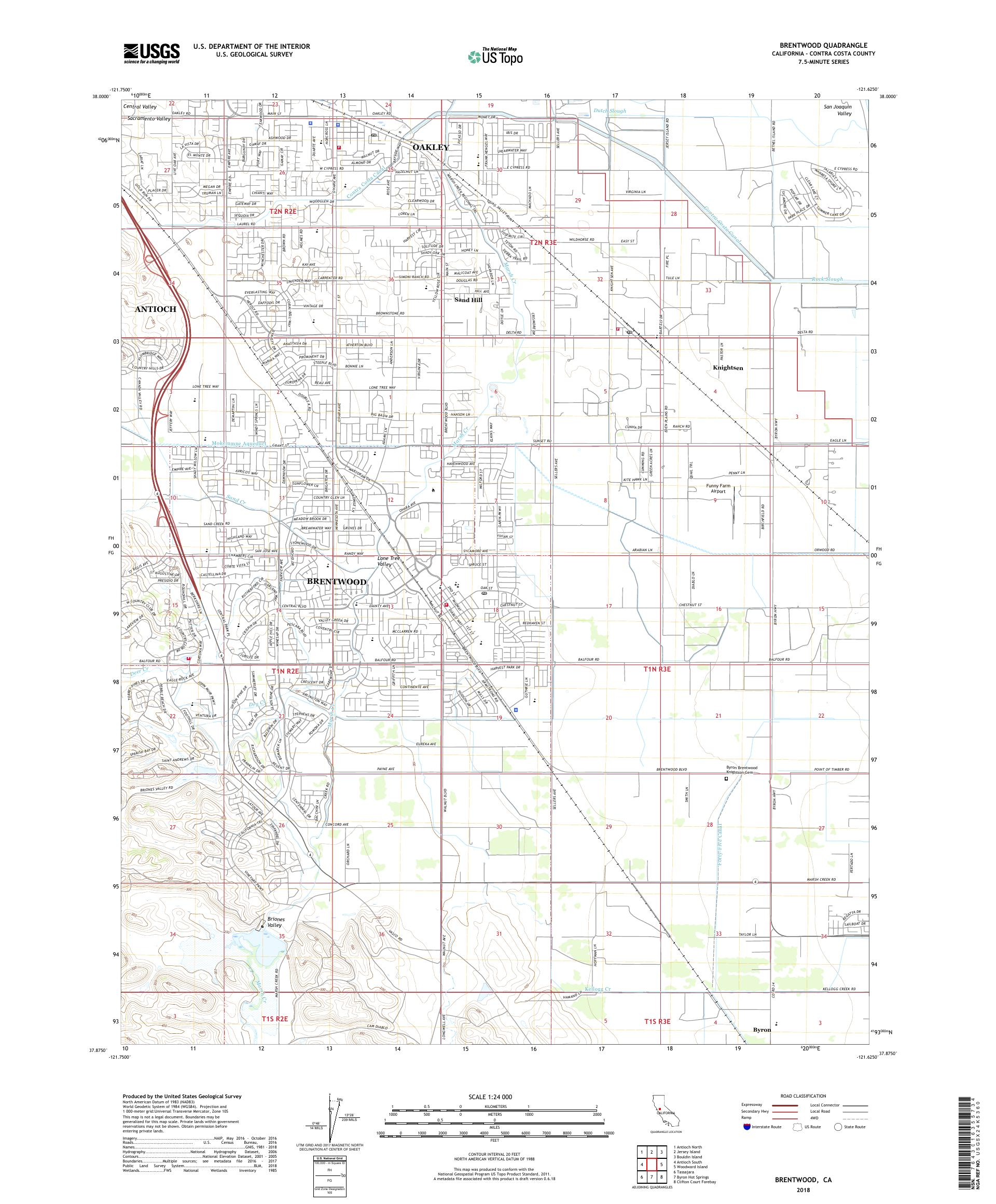 MyTopo Brentwood, California USGS Quad Topo Map