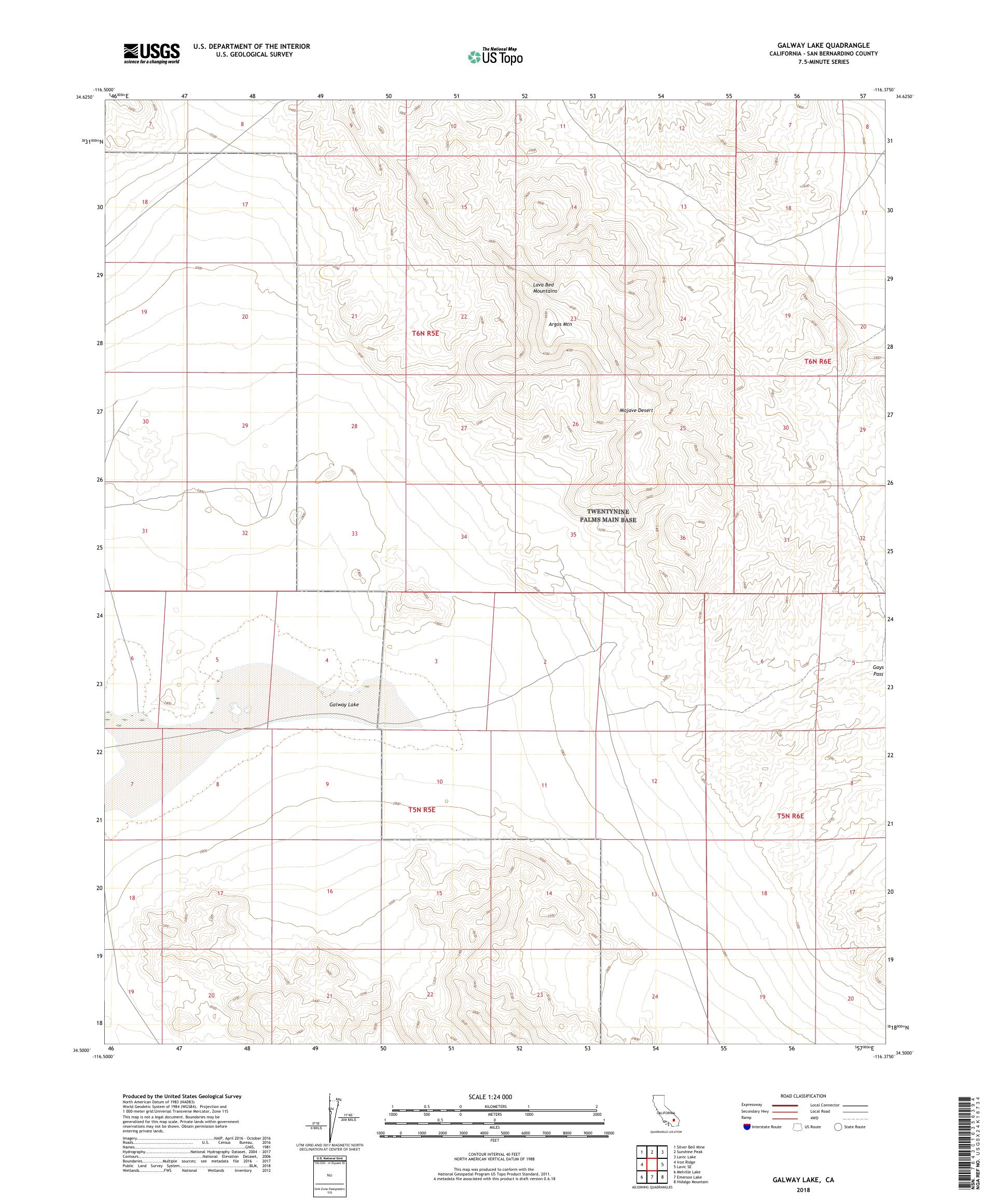 MyTopo Galway Lake, California USGS Quad Topo Map