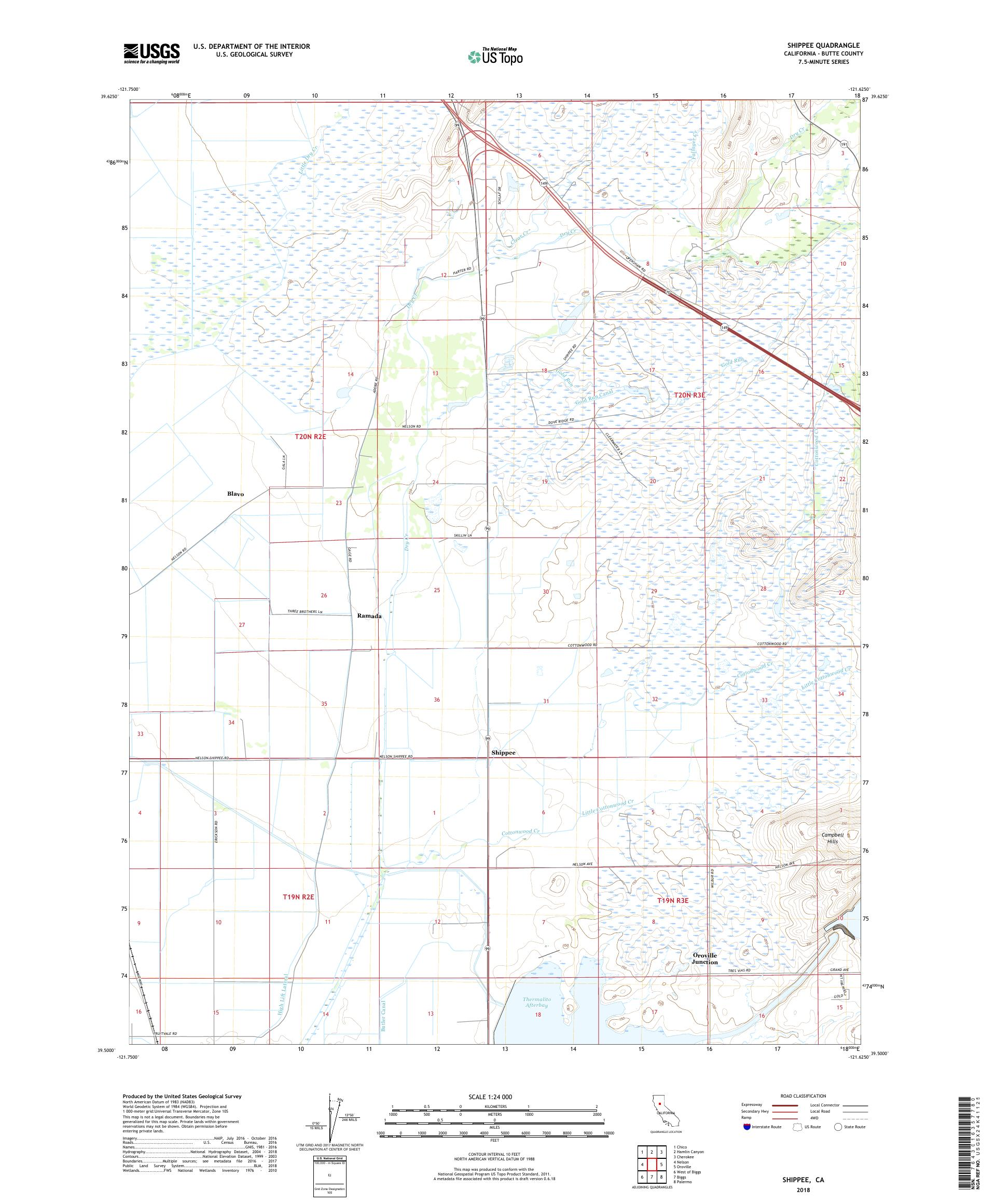 MyTopo Shippee, California USGS Quad Topo Map