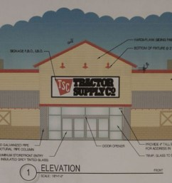 planning zoning commission member jim swift urged that aesthetic changes be made to the proposed tractor supply company building to have it satisfy the  [ 1750 x 476 Pixel ]