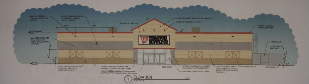 medium resolution of planning zoning commission member jim swift urged that aesthetic changes be made to the proposed tractor supply company building to have it satisfy the