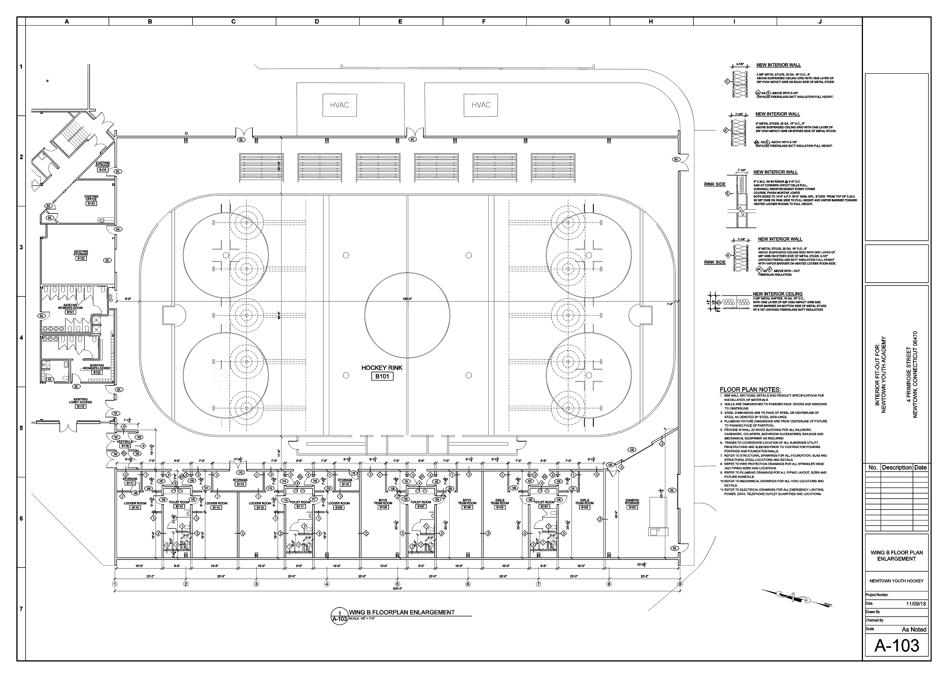 hight resolution of this image shows the proposed ice rink for the b wing of nya phil clark claris construction image empty