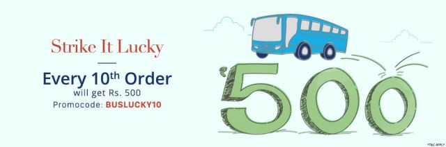 Paytm 100% Cashback On Bus Ticket,BUSLUCKY10