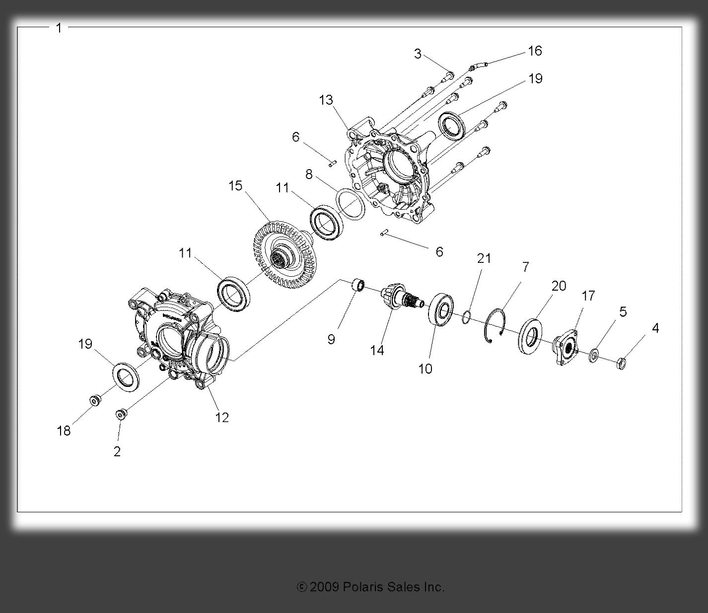 Polaris Sportsman 850 XP 4x4 10-12 Rear Differential 8324