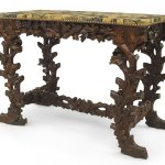 Rustic Black Forest Walnut Floral Console Table