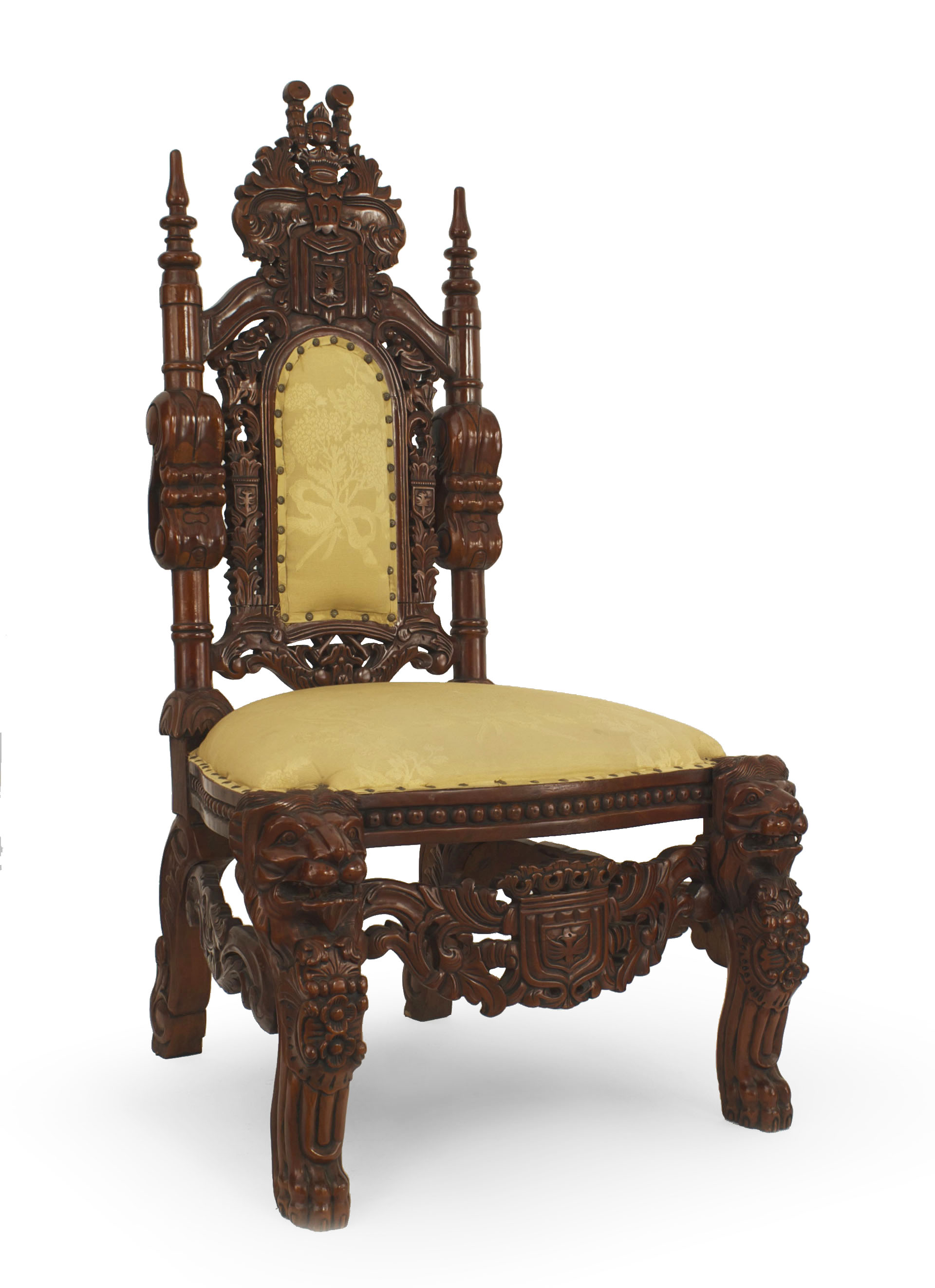 Damask Chair About Us Italian Renaissance Beige Damask Side Chair