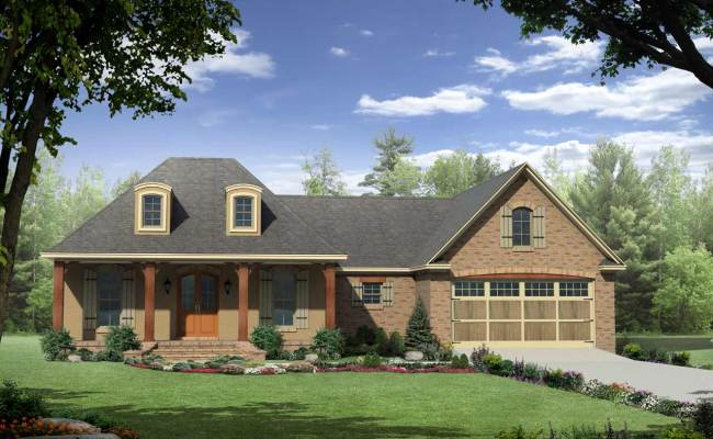 French Country House Plan 3 Bedrooms 2 Bath 1863 Sq Ft