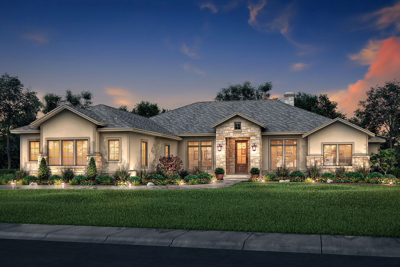 50*50 Ranch House Plan - 4 Bedrooms, 3 Bath, 3044 Sq Ft Plan 50-382